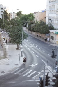 the empty streets of Jerusalem