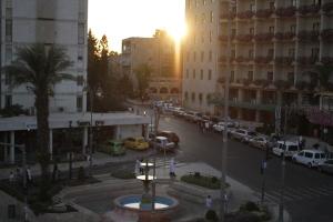 the empty streets of Jerusalem
